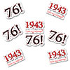 1943 - 76TH BIRTHDAY STICKER SEAL PARTY SUPPLIES