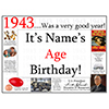 1943 CUSTOMIZED DOOR POSTER PARTY SUPPLIES