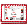 1943 PERSONALIZED EDIBLE CAKE IMAGE PARTY SUPPLIES