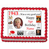 1943 PERSONALIZED EDIBLE PHOTO CAKE IMGE PARTY SUPPLIES