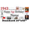 1943 PERSONALIZED BANNER PARTY SUPPLIES