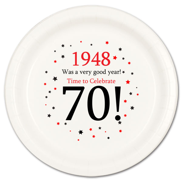 1948 party supplies 1948 70th birthday dessert plate