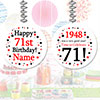 1948 - 71ST BIRTHDAY CUSTOM DANGLER PARTY SUPPLIES