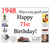 1948 - 71ST BIRTHDAY PLACEMAT PARTY SUPPLIES