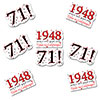 1948 - 71ST BIRTHDAY STICKER SEAL PARTY SUPPLIES