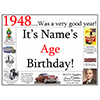1948 CUSTOMIZED DOOR POSTER PARTY SUPPLIES