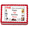 1948 PERSONALIZED EDIBLE CAKE IMAGE PARTY SUPPLIES