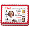 1948 PERSONALIZED EDIBLE PHOTO CAKE IMGE PARTY SUPPLIES