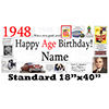 1948 PERSONALIZED BANNER PARTY SUPPLIES