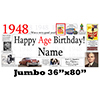 1948 JUMBO PERSONALIZED BANNER PARTY SUPPLIES