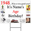 1948 PERSONALIZED YARD SIGN PARTY SUPPLIES