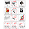 1949 - 70TH BIRTHDAY COASTER PARTY SUPPLIES