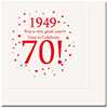 1949 - 70TH BIRTHDAY LUNCHEON NAPKIN PARTY SUPPLIES