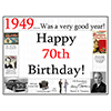 1949 - 70TH BIRTHDAY PLACEMAT PARTY SUPPLIES