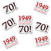 1949 - 70TH BIRTHDAY STICKER SEAL PARTY SUPPLIES