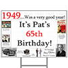 1949 PERSONALIZED YARD SIGN PARTY SUPPLIES