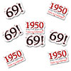 1950 - 69TH BIRTHDAY STICKER SEAL PARTY SUPPLIES