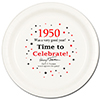 1950 - BIRTHDAY DINNER PLATE PARTY SUPPLIES