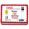 1950 PERSONALIZED ICING ART PARTY SUPPLIES