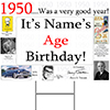 1950 PERSONALIZED YARD SIGN PARTY SUPPLIES