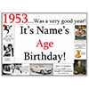 1953 CUSTOMIZED DOOR POSTER PARTY SUPPLIES