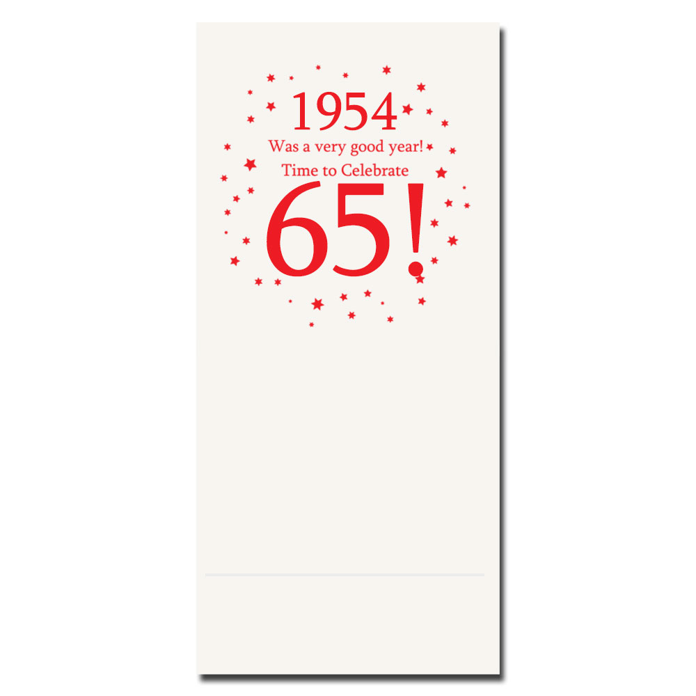 Click for larger picture of 1954 - 65TH BIRTHDAY DINNER NAPKIN PARTY SUPPLIES