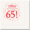1954 - 65TH BIRTHDAY LUNCHEON NAPKIN PARTY SUPPLIES