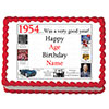 1954 PERSONALIZED EDIBLE ICING IMAGE PARTY SUPPLIES