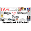 1954 PERSONALIZED BANNER PARTY SUPPLIES