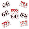 1955 - 64TH BIRTHDAY STICKER SEAL PARTY SUPPLIES