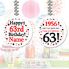1956 - 63RD BIRTHDAY CUSTOM DANGLER PARTY SUPPLIES