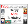 1956 - 63RD BIRTHDAY PLACEMAT PARTY SUPPLIES