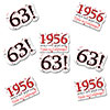 1956 - 63RD BIRTHDAY STICKER SEAL PARTY SUPPLIES