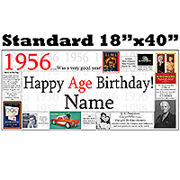 1956 PERSONALIZED BANNER PARTY SUPPLIES