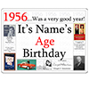 1956 CUSTOMIZED DOOR POSTER PARTY SUPPLIES