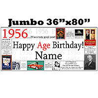 1956 JUMBO PERSONALIZED BANNER PARTY SUPPLIES