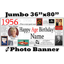 1956 CUSTOM PHOTO JUMBO BANNER PARTY SUPPLIES
