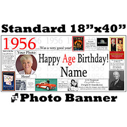 1956 CUSTOM PHOTO BANNER PARTY SUPPLIES