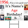 1956 PERSONALIZED YARD SIGN PARTY SUPPLIES