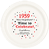 1959 TIME TO CELEBRATE DINNER PLATE PARTY SUPPLIES