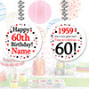 1959 - 60TH BIRTHDAY CUSTOM DANGLER PARTY SUPPLIES