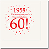 1959 - 60TH BIRTHDAY LUNCHEON NAPKIN PARTY SUPPLIES