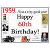 1959 - 60TH BIRTHDAY PLACEMAT PARTY SUPPLIES