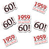 1959 - 60TH BIRTHDAY STICKER SEAL 24/PKG PARTY SUPPLIES