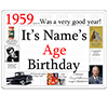 1959 CUSTOMIZED DOOR POSTER PARTY SUPPLIES