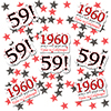 1960 - 59TH BIRTHDAY DECO FETTI PARTY SUPPLIES