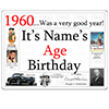 1960 CUSTOMIZED DOOR POSTER PARTY SUPPLIES