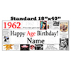 1962 PERSONALIZED BANNER PARTY SUPPLIES