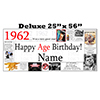 1962 DELUXE PERSONALIZED BANNER PARTY SUPPLIES