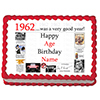 1962 PERSONALIZED ICING ART PARTY SUPPLIES